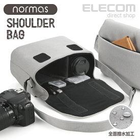 エレコム カメラバッグ normas ノーマス ミラーレス 一眼レフ カメラ 用 ショルダーバッグ カメラ ケース バッグ 全面撥水加工 グレー DGB-S031GY