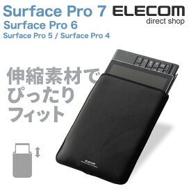 e98dfc0062 エレコム Surface Pro 6 Surface Pro 第5世代 伸縮素材ネオプレン スリップインポーチ ブラック