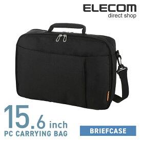 66e95916e52008 エレコム ブリーフケース ビジネスバッグ PCバッグ 2気室 15.6インチノートPC対応 ブラック