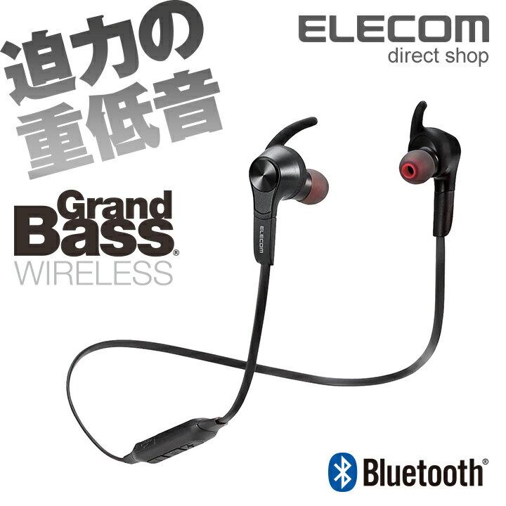 エレコム Bluetoothワイヤレスヘッドホン イヤホン 連続再生7時間 通話対応 ブラック LBT-HPC41AVBK 【店頭受取対応商品】