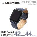 エレコム Apple Watch 44mm 42mm 用 ソフトレザーバンド ヴィーガンレザー apple watch series 5 対応 アップルウォッチ アップルウォッチ5 バンド ベルト ネ