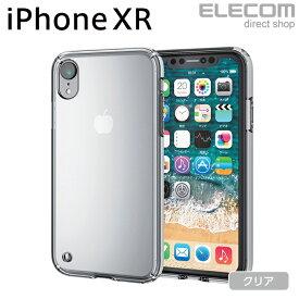 エレコム iPhone XR ケース 耐衝撃 衝撃吸収 TRANTECT クリア スマホケース iphoneケース PM-A18CHVCCR
