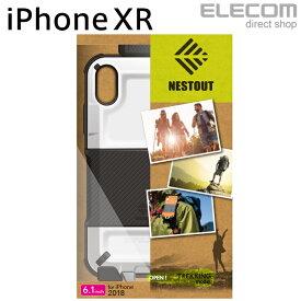 エレコム iPhone XR ケース 耐衝撃 衝撃吸収 NESTOUT TREK 専用ホルダー付き ホワイト スマホケース iphoneケース PM-A18CHVODTWH