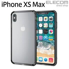 エレコム iPhone XS Max バンパー 耐衝撃 TRANTECT ブラック スマホケース iphoneケース PM-A18DHVBBK