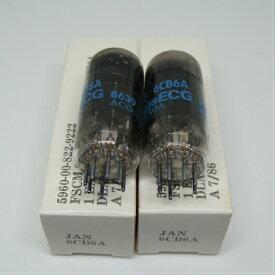 米国製真空管 Philips JAN 6CB6A フィリップス (2本セット)