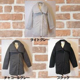 【50%OFF】中綿ボリューム襟コート ショートコート ハーフコート ZAMPA ザンパ
