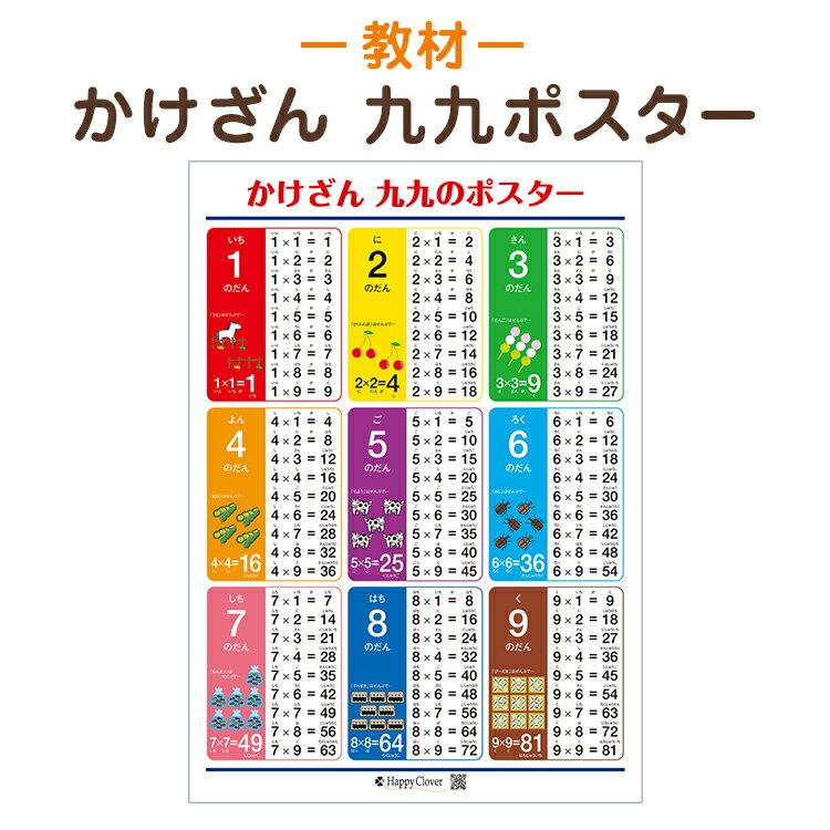 【かけざん 九九ポスター】【九九表】※八つ折り発送知育教材 学習ポスター