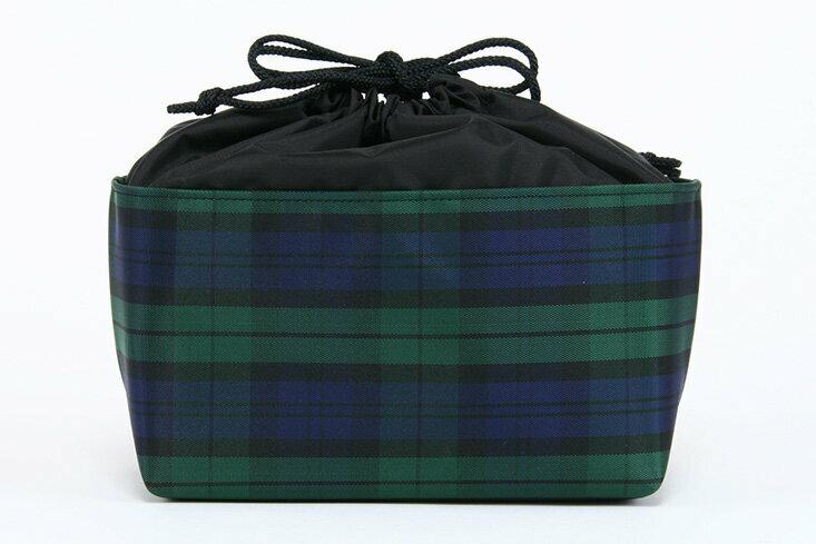 エスパニアチェックランチ巾着バッグ 日本製【お受験のお店●エレガンテ・ポポ】ランチバッグ