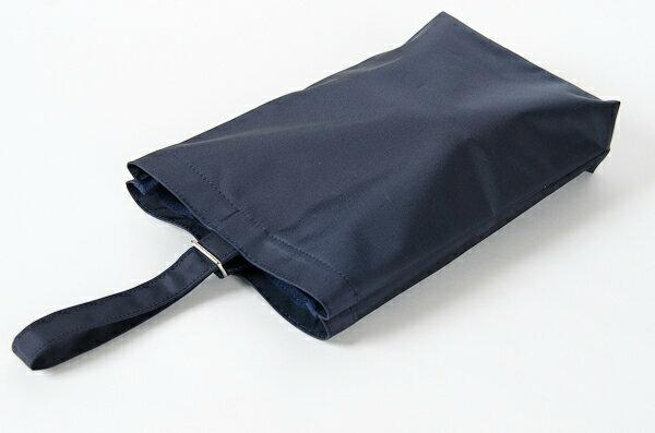 人気のシューズバッグのナイロンタイプが新登場!紺色ナイロン製 :お子様用シューズバッグ タイプB キッズ【お受験バッグのエレガンテ・ポポ】