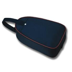 [トライアングル型]紺色ナイロン製:シューズバッグお子様用【お受験バッグのエレガンテ・ポポ】