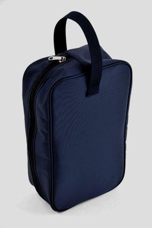 紺色ナイロン製:シューズバッグお子様用【お受験バッグのエレガンテ・ポポ】