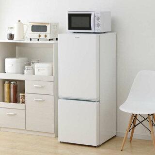 冷蔵庫小型156LアイリスオーヤマAF156-WEミニ冷蔵庫ミニ2ドア右開き冷凍庫冷凍庫小型静音シンプルコンパクト小型節電耐熱天板霜取り大容量アイリス[◎]