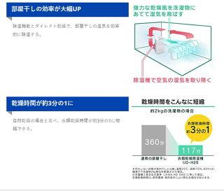 衣類乾燥除湿機デシカント式IJD-H20-Pピンク・ブルーアイリスオーヤマ