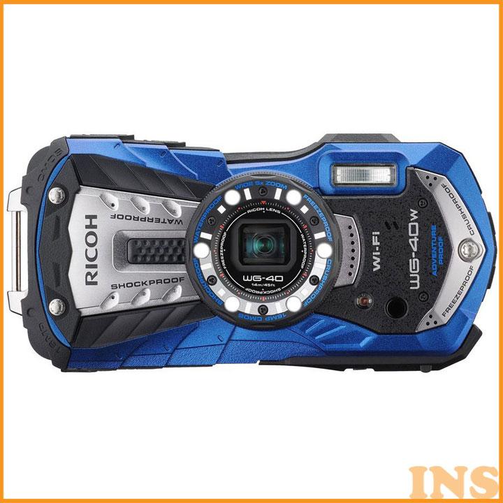 リコー 防水カメラ 特典SDHC8GB付 ブルー WG40W 送料無料 カメラ 防水 デジカメ デジタルカメラ コンパクトデジタルカメラ 耐衝撃 耐寒 耐荷重 アウトドア 14m でじかめ でじたるかめら RICOH リコー 【D】