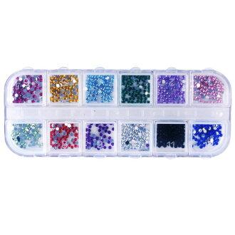 新货●约1200个12色丰富多彩的线斯通指甲艺术3D水晶灿烂线斯通●指甲艺术3D水晶灿烂线斯通灿烂美甲师自助指甲可爱