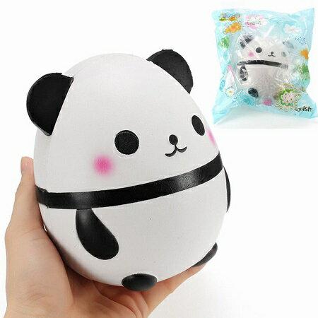 新品 送料無料 卵型 パンダ スクイーズ 低反発 ぬいぐるみ おもちゃ 動物 かわいい ストラップ 握る ストレス解消 もちもち