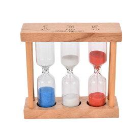 砂時計 1分 3分 5分 ウッドフレーム タイマー 時間計測 送料無料 新品