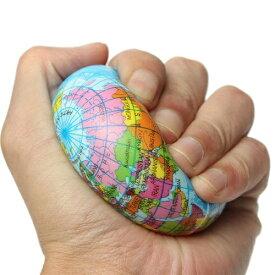 固め地球儀スクイシーボール 地球 スクーズボール 約10cm おもちゃ スクイーズ 握る ストレス解消 手が寂しい もちもち 手持ち無沙汰 世界地図 発泡スチロール 新品 送料無料