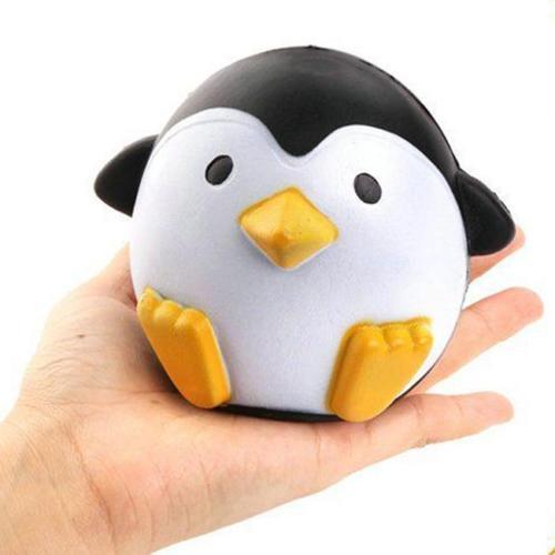新品 送料無料 スクイーズ ペンギン 香り付き 低反発 ぬいぐるみ おもちゃ 動物 かわいい ストラップ 握る ストレス解消 もちもち