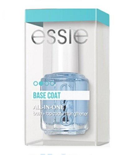 【送料無料】 箱付き Essie エッシー オールインワン Essie All In One 13.5ml essie Essie All In One トップコート+べースコート+ストレンスナー セルフネイル  / ネイルグッズ ネイルケアとトップコートとベースコートコートが一つに 3way 3役