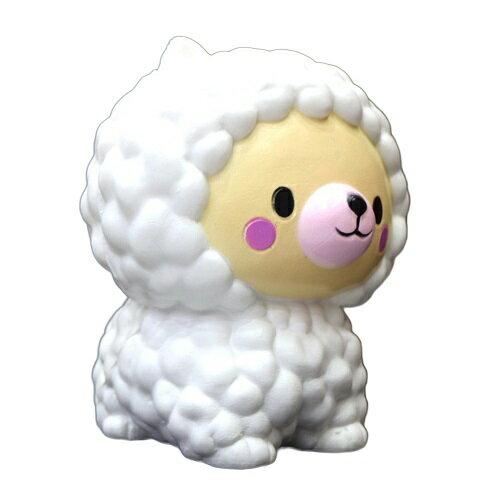 新品 送料無料 約12cm スクイーズ 羊 ひつじ 低反発 ぬいぐるみ おもちゃ 動物 かわいい ストラップ 握る ストレス解消 もちもち
