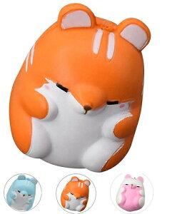 スクイーズ ハムスター 低反発 ぬいぐるみ おもちゃ 動物 かわいい ストラップ 握る ストレス解消 もちもち 新品 送料無料