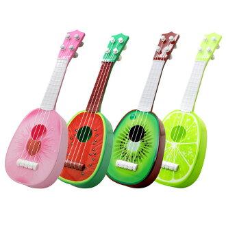 供尤克裏裏琴約32cm水果尤克裏裏琴小孩使用的玩具水果小尤克裏裏琴小吉他樂器隨機新貨