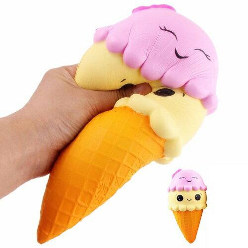 新品 送料無料 大サイズ 中サイズ 約22cm 約16cm 2種からご選択 スクイーズ スクワッシュアイスクリーム 2段アイス コーン 低反発 ぬいぐるみ おもちゃ かわいい ストラップ 握る ストレス解消 もちもち