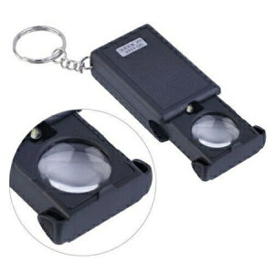 送料無料 新品 ミニルーペ 30倍拡大 LEDルーペライト LEDライト付き 虫眼鏡ミニ 拡大鏡