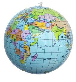 ビニールボール ビーチボール 世界地図 約38cm (膨らませていない状態) おもちゃ 地球儀 英語表記世界地図 新品 送料無料