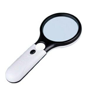 ルーペ 3倍 45倍拡大 ライトルーペ LEDルーペ ライト付き UVライト LEDライト 虫眼鏡 拡大鏡 新品 【送料無料】