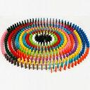 ドミノ 240個 ドミノ倒し 木製 おもちゃ 知育玩具 頭の運動 集中力 新品 【 送料無料 】