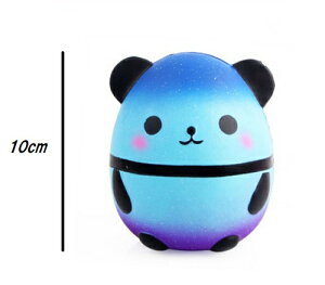 スクイーズ miniサイズ 卵型 ブルー パンダ 低反発 ぬいぐるみ おもちゃ 動物 かわいい 握る ストレス解消 もちもち 卵パンダ ミニサイズ 新品 送料無料