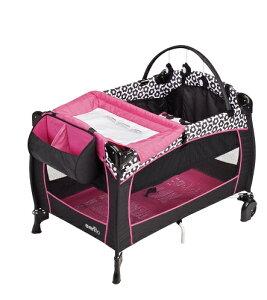 送料無料 新品 Evenflo ポータブルベビーベット プレイヤード Portable BabySuite 300 Marianna マリアンナ 赤ちゃん ベビーベッド 折りたたみ 旅行 お出かけ 持ち運び