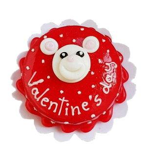 1/12 ミニチュア 3Dリアル フェイクスイーツ レア バレンタイン 可愛いクマさんとイチゴのホールケーキ プディング ホビー ドールハウス オーナメント コレクション 美細工 デコレーション
