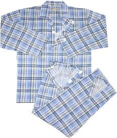 介護パジャマ 全開タイプ 紳士用 メンズ フルオープン 真夏 清涼 楊柳生地 入院着 ワンタッチテープ ねまき 優しい着心地 綿100%