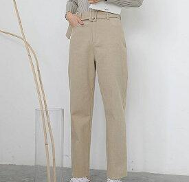 レディース 韓国ファッション アンクルパンツ くるぶし丈 ハイウエスト クロップド ボトムス 普段着 上品 フォーマル カーキ ベージュ ブラック S M L サイズ