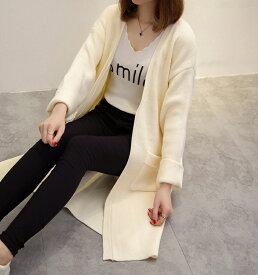 レディース 韓国ファッション アウター コーディガン ニット ロングスリーブ ポケット付き 普段着 オフコーデ OFF 部屋着 フォーマル レッド ホワイト ブルー フリー