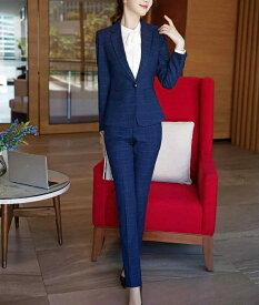レディース 韓国ファッション 3点セット ジャケット + ブラウス + パンツ or ミニスカート カジュアル フォーマル 大人女子 式 上品 ビジネス オフィス ネイビー 紺色 ビックサイズ