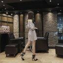 レディース 韓国ファッション ワンピース ショルダーカット 肩出し 肩見せ 5分袖 ミニ丈 カジュアル オフコーデ OFF 大人可愛いキュート フェミニン お出かけ服 パーティ グレー 灰色 S M