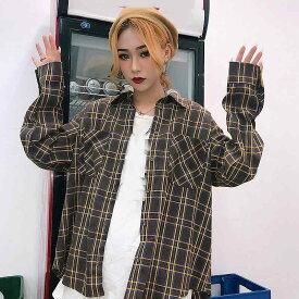 全商品15%OFFクーポン配布中 16日1:59迄 レディース 韓国ファッション 上下2点セット ロングシャツ スカート チェック柄 ミニ丈 セットアップ カジュアル オフコーデ OFFクール かっこいい お出かけ服 オフィス M L サイズ