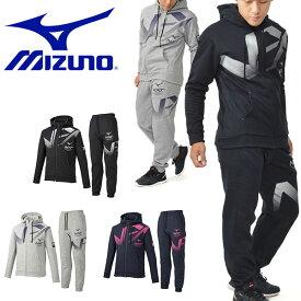 送料無料 スウェット 上下セット ミズノ MIZUNO メンズ N-XT スウェットシャツ パンツ 上下組 フルジップ パーカー トレーナー スエット スポーツウェア トレーニング ウェア 32JC9761 32JD9760 得割25
