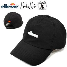 数量限定 送料無料 ellesse×Hombre Nino ロゴキャップ エレッセ LOGO CAP 帽子 メンズ レディース 2020春夏新作 ブラック コラボモデル