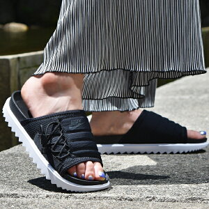スポーツサンダル ナイキ NIKE レディース ASUNA スライド サンダル ビーチサンダル シャワーサンダル ビーサン スポサン シューズ 靴 ブラック 黒 ASUNA SLIDE CI8799