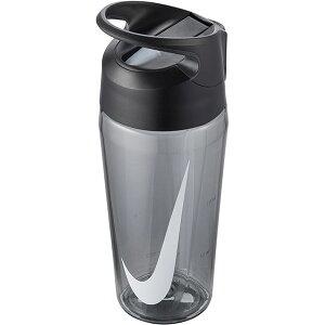 水筒 ナイキ NIKE TR ハイパーチャージ ストロー ボトル 16oz 容量473ml 0.4L 透明 直飲み ストロー付き クリアボトル ウォーターボトル スポーツボトル 水分補給 グレー 灰 HY4003