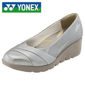 送料無料 ヨネックス YONEX ウォーキングシューズ レディース パワークッション LC106 スニーカー パンプス スニーカーパンプス ウォーキング シューズ 靴 017 シルバー SHWLC106 得割20
