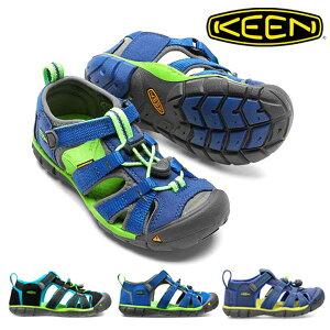 送料無料 30%off キーン キッズ サンダル KEEN 水陸両用 アウトドア 靴 KIDS SEACAMP II CNX つま先保護 ベルクロ 水遊び 子供 日本正規品