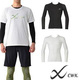 CW-X 長袖 アンダーウェア メンズ ワコール Wacoal セカンドボディ コンプレッション インナー インナーウェア スポーツウェア 吸汗速乾 UVカット ランニング トレーニング マラソン トレッキング ゴルフ 得割10