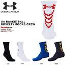 数量限定 アンダーアーマー UNDER ARMOUR UA BASKETBALL NOVELTY SOCKS CREW メンズ ヒートギア バスケットボール バ...