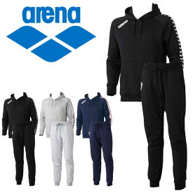 送料無料 スウェット 上下セット アリーナ arena スウェットパーカー パンツ メンズ プルオーバー パーカー ロングパンツ スエット 上下組み トレーニング 水泳 スイミング ウェア